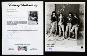 JOEY & JOHNNY RAMONE Original RAMONES Signed AUTOGRAPH Photo with PSA/DNA COA