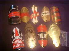 Balloon Tire Bicycle Head badge name plate Emblems lot 5 Schwinn Shelby Huffy