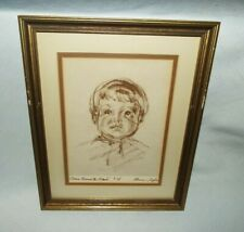 "FRAMED FLORENCE TAYLOR ""FENCE AROUND THE AMISH"" DRAWING #28  LOOK!!!!"