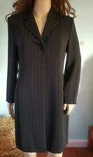 Ladies Richards petite duster coat Jacket black pin stripe size 6 8 10