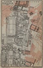 Forum romanum ground plan, rome. forum romain mappa. baedeker 1909 old