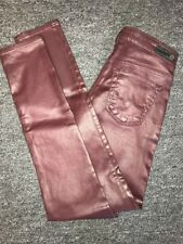 NWOT! Adriano Goldschmied The Legging Ankle Skinny Faux Leather Jeans Size 25R