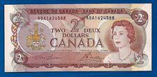 1974 CANADA two 2 DOLLAR BILL NOTE prefix ABA CRISP UNC