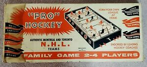 1954 Pro Hockey PH-12 (Green Wood Sides with Painted NHL Pennants) PRISTINE