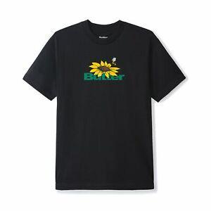 Butter Goods Sunflower Logo Tee Black Mens Streetwear Skate Apparel
