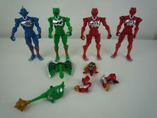 4 JUNGLE FURY 2007 ANIMORPHIN ANIMALIZED POWER RANGER FIGURES & SOME ACCESSORIES