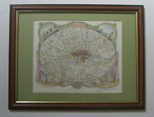London environs: antique map by T.Moule, c1836