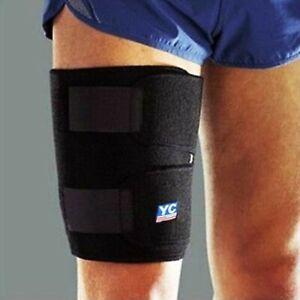 Copper THIGH support compression brace patella arthritis pain relief gym