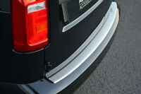 For Volkswagen Caddy (2016+) - Rear Bumper Protector Scratch Guard Brushed Steel