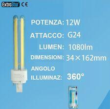 Faretto LED attacco g24 ,luce bianca,bianco freddo,lampadina 220V G 24 caldo 12W