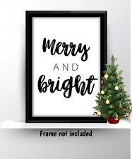 Christmas Xmas Word Art Print Quote Wall Hanging Decor Gift Typography Decoratio