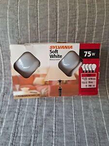 4 Pack Sylvania 75w 120v Soft White incandescent A19 Light Bulbs NEW SEALED