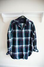 GAP dark blue, red and green flannel shirt  | Size L