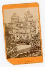 PHOTO CDV -15 der Friedrichabau in Heidelberg Deutschland 1880