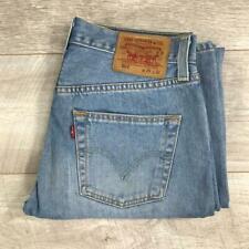 """Womens Blue LEVIS 501 29""""W 32""""L Vintage Mom Mum Boyfriend Fit Jeans 501s #C4278"""