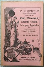 "1973 Reprint of the ""C.P. Stirn's Vest Cameras"" Instruction Booklet"