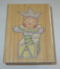 Jack In The Box Rubber Stamp Baby Toy Bear ABC For Giving Souls Kids Children