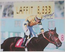 "Laffit Pincay Inscribed ""9530 wins."" Color 16x20 Autographed Photo Mli/Coa (44)"