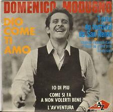 """DOMENICO MODUGNO """"DIO COME TI AMO / SAN REMO"""" 60'S EP AZ 1015"""