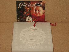 Longaberger 2002 Collector Club Ornament Snow Days Claire Longaberger Snowflake!