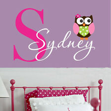 Removable Owl Custom Name For Baby Vinyl Wall Paper Decal Art Sticker X937