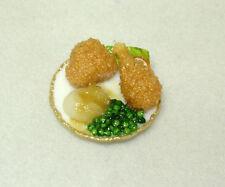 Bette Accola Handcraft Dark Meat Fried Chicken Dinner 1:12 Dollhouse Miniatures
