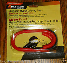 MARKSMAN 3355 SLINGSHOT HYPER VELOCITY REPLACEMENT BAND RED TAPERED 30% MORE 1/4