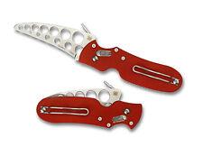 """Spyderco P'kal Trainer C103TR Folding Knife, 3"""" Trainer Blade, Red G-10 - Dealer"""