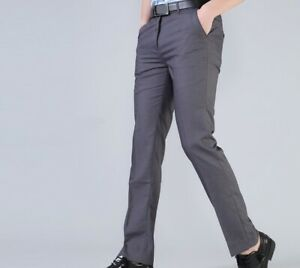 Men Suit Professional Slim Trousers Business Pants Formal Dress Trousers Fit
