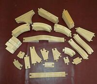 Thomas & Friends Lot of 75 Pieces Wooden Train Tracks Railway Good Used Cond