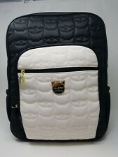 Betsey Johnson Cat Feline LBBROOK  Backpack stitched& quilted with gold accents