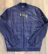 NWT POLO RALPH LAUREN Mens PERFORMANCE Packable Down Fleece Jacket BLUE XXL