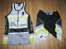 SQUADRA Jersey & Shorts TRI TRIATHLON Womens SMALL Nylon Spandex SCOTTSDALE ARIZ