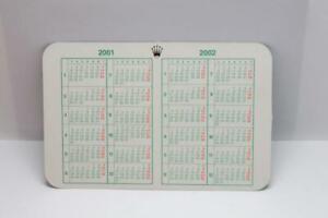 Genuine Rolex Calendar Card 2001 - 2002