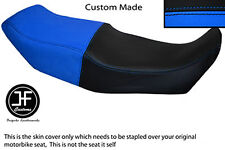 LIGHT BLUE AND BLACK VINYL CUSTOM FITS BMW K75 K100 K1100 DUAL SEAT COVER ONLY