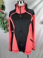 CITY CHIC CCX Womens Plus Size Pink Black Zip Up Active Jacket - M/AU18