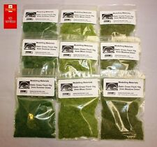 Static Grass Multipack 2mm 4mm 6mm 9 Pack - Moss, Meadow & Summer Grass Flock
