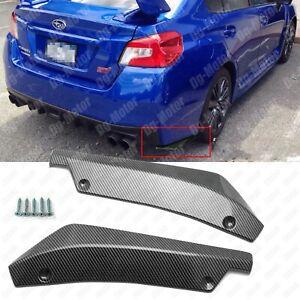 Carbon Fiber Look Rear Bumper Canard Splitter Diffuser Spoiler Lip For Subaru !!