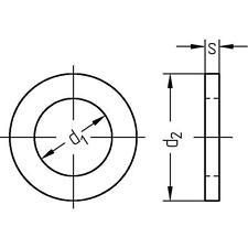 Baugewerbe-Unterlegscheiben aus galvanisch verzinktem Stahl