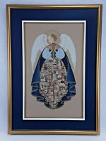 Stunning ' Angel of Love ' COMPLETED Beaded Cross Stitch Hand-Stitched 203 Hours
