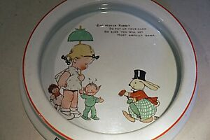 Shelley Mabel Lucie Attwell Baby dish - Mister Rabbit