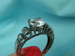 BEAUTIFUL 2.00CT WHITE CZ ENGAGEMENT .925 Sterling Silver Ring 5.0 Grams Size 10
