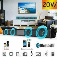 Wireless Bluetooth Sound Bar 20W Speaker Home Theater Soundbar 2.0 Channel O9P1