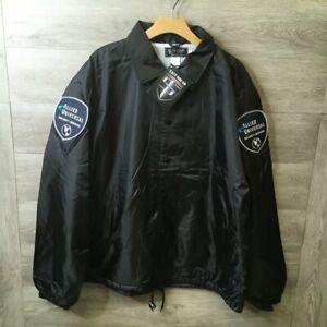 Tact Squad Mens Size 2XL Black AUSS Flannel-Lined Windbreaker Jacket NWT