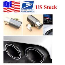 1x Exhaust Tip 63MM IN-89MM OUT Carbon Fiber Exhaust Tip Muffler US Stock