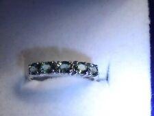 14K Green Tourmaline White Gold Ring