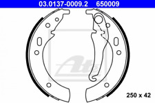 Bremsbackensatz für Bremsanlage Hinterachse ATE 03.0137-0009.2
