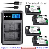 Kastar Battery LCD Dual Charger for Canon LP-E6 LC-E6E & Canon EOS 5D Mark III