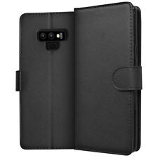 SDTEK PU Leather Wallet Flip Cover Case for Samsung Galaxy Note 9 (Black)