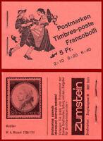 Schweiz 1979 Volksbräuche, Markenheft ERSTTAG-Stempel, Mi 0-72a, SBK 0-72a